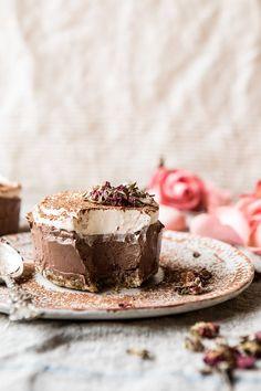 Vegan Chocolate Custard Cake   halfbakedharvest.com #chocolate #dessert #healthy #vegan #nobake