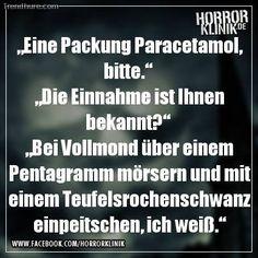 Einnahme von Paracetamol