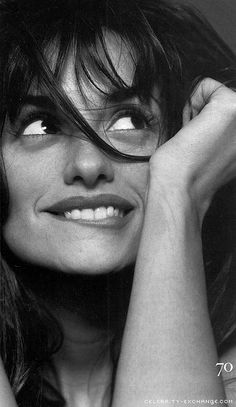 ♀ Black and white photography woman portrait Penelope Cruz