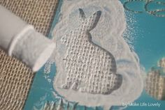 Easter Bunny Burlap Placemats