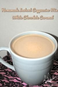 Homemade Instant Cappuccino Mix - White Chocolate Caramel