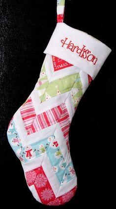 Personalized Chevron Christmas Stocking by karenhulsizer on Etsy