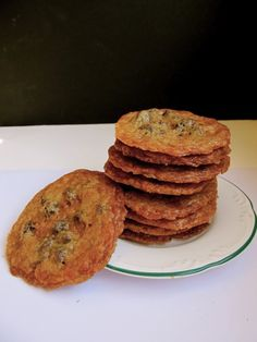 Thin Chocolate Chip Toffee Cookies - This looks like a good cookie for making homemade ice cream sandwiches.