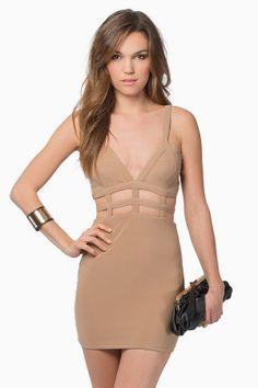Tobi Venetian Bodycon Dress
