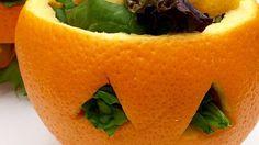Halloween Orange Salad Bowls