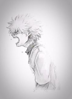 killua zoldyck when sadness is mixed with anger...