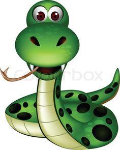 Vector of 'vector illustration of green snake cartoon' on Colourbox Animal Drawings, Cute Drawings, Drawing For Kids, Art For Kids, Cute Snake, Baby Animals, Cute Animals, Cute Bunny Cartoon, Barrel Of Monkeys