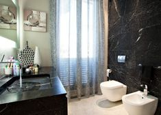 Eclettico - lamadesign.it Sink, Curtains, Shower, Interior Design, Bathroom, Home Decor, Sink Tops, Insulated Curtains, Interior Design Studio