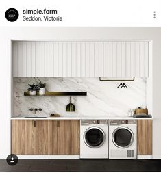 """Fantastic """"laundry room storage diy cabinets"""" detail is offered on our internet site. Take a look and you wont be sorry you did. Modern Laundry Rooms, Laundry In Bathroom, Laundry Closet, Laundry In Kitchen, Basement Laundry, Laundry Area, Garage Laundry, Laundry Tips, Mini Kitchen"""