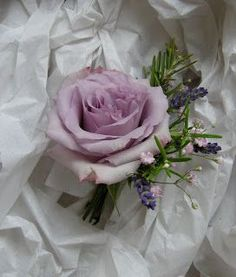 Groom's buttonhole of lilac rose, lavender and rosemary with a tiny touch of pink gypsophila. Description from pinterest.com. I searched for this on bing.com/images