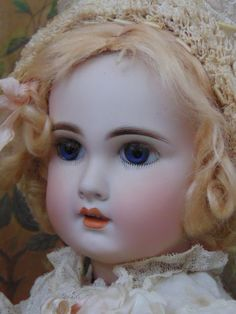 ~~~ Beautiful French Jumeau with Pale Expression Bisque Quality ~~~ from whendreamscometrue on Ruby Lane
