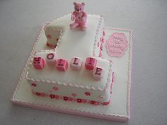 first birthday cake number one - Google Search Baby First Birthday Themes, Number Birthday Cakes, Birthday Cake Girls, First Birthdays, Number One Cake, Number Cakes, 1st Year Cake, Big Cakes, Take The Cake