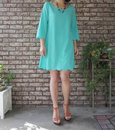 Bell sleeve sold A line dress/tunic Made in USA