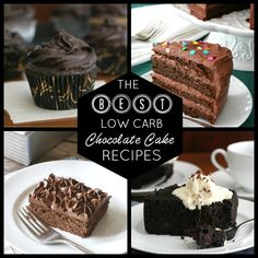All the best low carb chocolate recipes you'll ever need. From milk to dark to cupcakes, it's all here!
