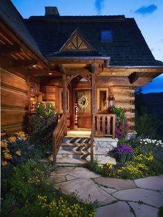 Inviting log cabin