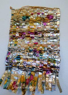 "copper cascade, plaited copper sheet, wire, aluminum, brass 9""x14""  $85 plus p/h"