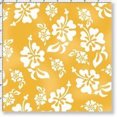 Loralie Beach Flip Flop Cotton Fabric Loralie Harris Hu Lala Shoes Yellow YARD