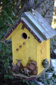 Dont you just love this? Birdhouse Handmade Woodworking Designer by BirdhousesByMichele,
