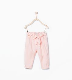 Image 1 of Tie-waist loose trousers from Zara