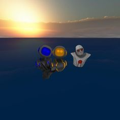 An awesome Virtual Reality pic! Sometimes you just have to jump in the #ocean when you're on a #desertisland and it gets too hot.  Even in #VR. This photo was taken after the last #EchoSpace desert island dance party. #virtualreality #VRparty #avatars #avatarswim by altspacevr check us out: http://bit.ly/1KyLetq