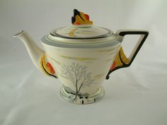 ART DECO BURLEIGH WARE MOONBEAMS ZENITH TEAPOT c.1930's - PERFECT | eBay July 2016. List GBP10. Pattern NO. 5045. Sold GBP100, 15 bids