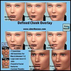 Defined Cheek Overlay -Original Content- | Sims 4 Nexus