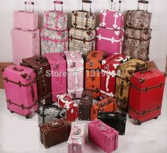 Korea style vintage luggage set for women,high quality pu leather ladies travel luggage set,12 20inch mother and son trolley bag-in Luggage Sets from Luggage & Bags on Aliexpress.com | Alibaba Group