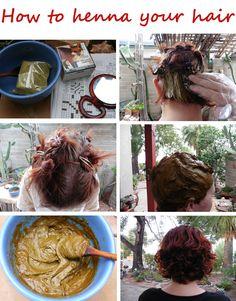 How to henna your hair #henna #hair