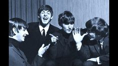 ♫ The Beatles pose with a Snowman at rehearsals at the Astoria Cinema, F...