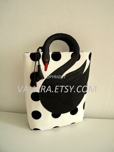 Black swan tote bag by VaVaRa on Etsy, $75.00