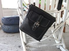 Altered Black Coach Swing Bag  Cross Body by GoodLucyBadLucy, $30.00