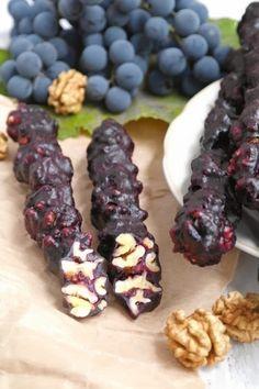 Simple and tasty: Churchkhela Georgian Cuisine, Georgian Food, Raw Food Recipes, Dessert Recipes, Cooking Recipes, Healthy Recipes, Russian Desserts, Russian Recipes, Armenian Recipes