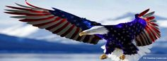 American Eagle Flag Design. Facebook cover photo