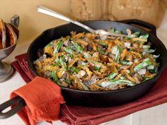 Best Ever Green Bean Casserole Recipe : Alton Brown : Food Network. I love Alton Brown! Alton Brown, Greenbean Casserole Recipe, Casserole Recipes, Tortilla Casserole, Veggie Casserole, Skillet Recipes, Chicken Casserole, Casserole Dishes, Thanksgiving Side Dishes