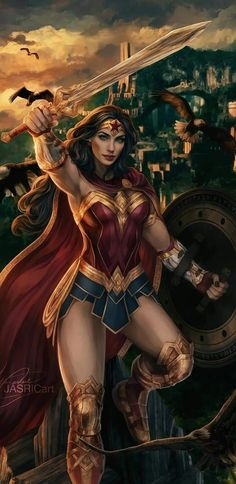 Wonder Woman Real Warrior Art HD Superheroes Wallpapers Photos and Pictures ID Wonder Woman Art, Superman Wonder Woman, Wonder Women, Dc Comics Art, Comics Girls, Catwoman Comic, Female Comic Characters, Female Hero, Military Women