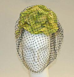 1942 silk Hat by Germaine Vittu | The Metropolitan Museum of Art, New York.