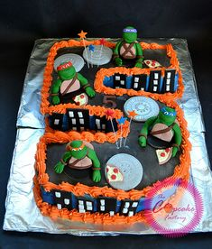 Teenage Mutant Ninja Turtles Frosting Cake TMNT Cake toppers | Flickr - Photo Sharing!