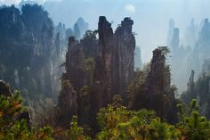 A Legendary Place.  Zhangjiajie National Park in China.  by Thomas Dawson.
