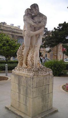 Statue in park Mdina, Malta