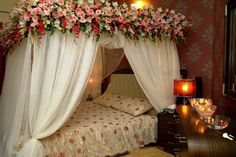 Post Feeds Great for coming to our site. You are appreciated to navigate to Wedding Room Decorations. This awesome Wedding Room Decorations will guide. Bridal Room Decor, Wedding Night Room Decorations, Romantic Room Decoration, Flower Room Decor, Romantic Bedroom Design, First Wedding Night, First Night, Wedding Bedroom, Wedding House