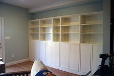 Built-in Bookcases by Ikea