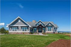 Lovely mountain craftsman plan with ample storage space - rw architectural designs - house plans Best House Plans, House Floor Plans, Story Mountain, Mountain Homes, Floor Plan Drawing, Modern Farmhouse Plans, Farmhouse Style, Thing 1, Build Your Dream Home