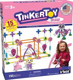 TINKERTOY  Pink Building Set  150 Pieces  Ages 3  Preschool Educational Toy -- Find out more about the great product at the image link.