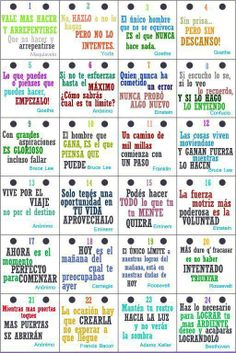 Motivation signs in Spanish Bilingual Classroom, Spanish Classroom, Teaching Spanish, Coaching, Ap Spanish, Inspirational Phrases, Spanish Quotes, Motivation, Leadership