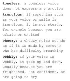 Words to describe someone's voice 8