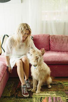 Jen Coleman and her pooch -- Ascot + Hart