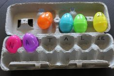 Easter Egg Name Activity - Learn to spell your name with Easter Eggs