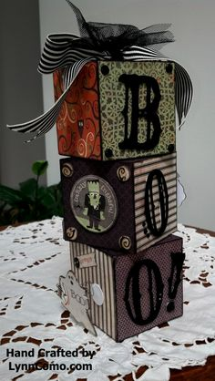 Love this fun home decor item using Moonlight Paper & My Creation Cubes from CTMH.