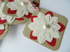 Christmas Gift Tags Christmas Flower Tags Gift Tags by 2muchpaper, $8.00
