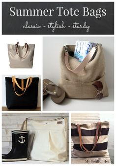 Summer Tote Bags - a selection of handmade totes